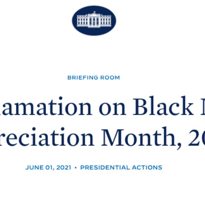 "Biden Proclaims June 2021 ""Black Music Appreciation Month"""
