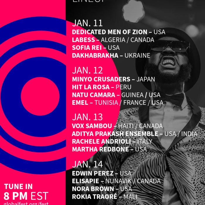 GlobalFEST Goes TinyDesk Jan. 11-14