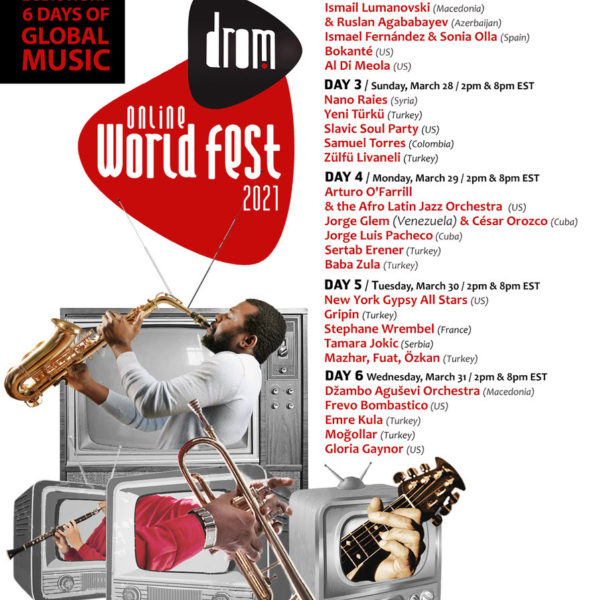 NYC's DROM Hosting a Free, Streaming World Music Festival
