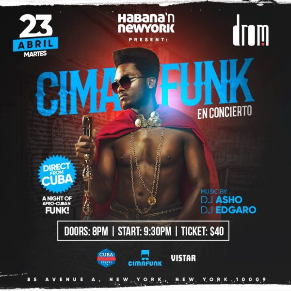 Win a Pair of Tickets to Cimafunk's April 23 Show at DROM in NYC