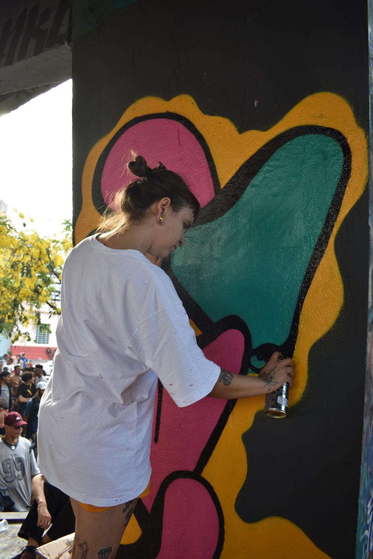 Street Artist at the Duelo de MCs