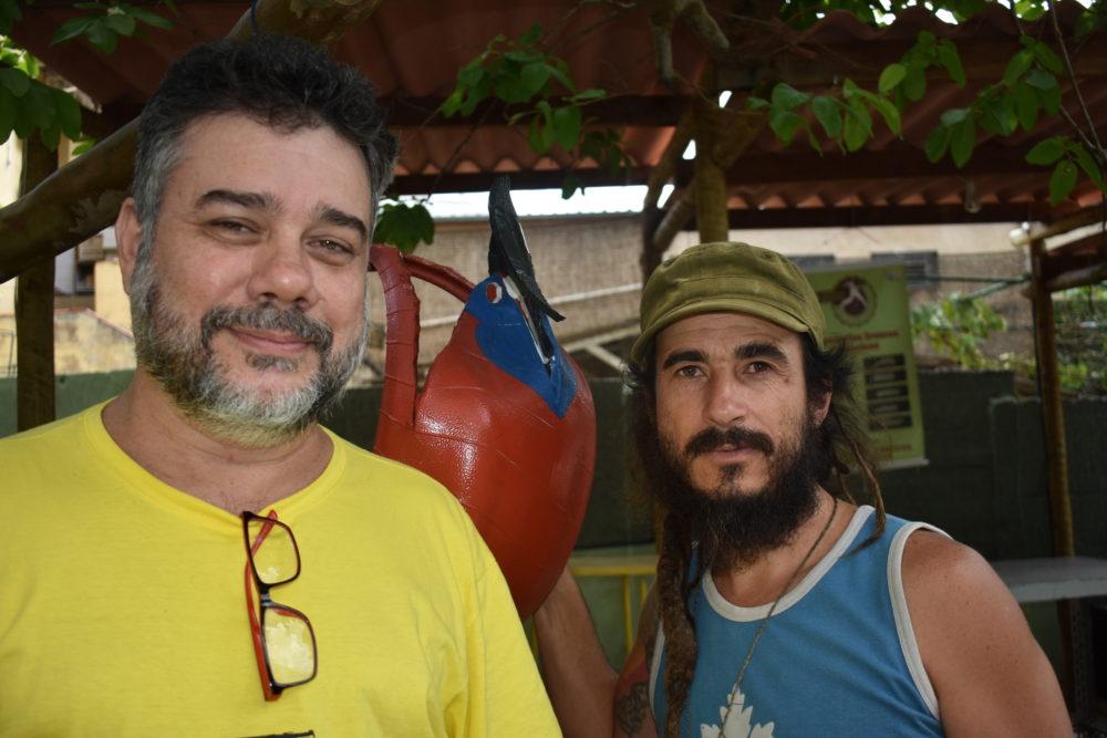 Leo Vidigal of DeSka Reggae (L) and Tiago Lopes of Roots Ativa
