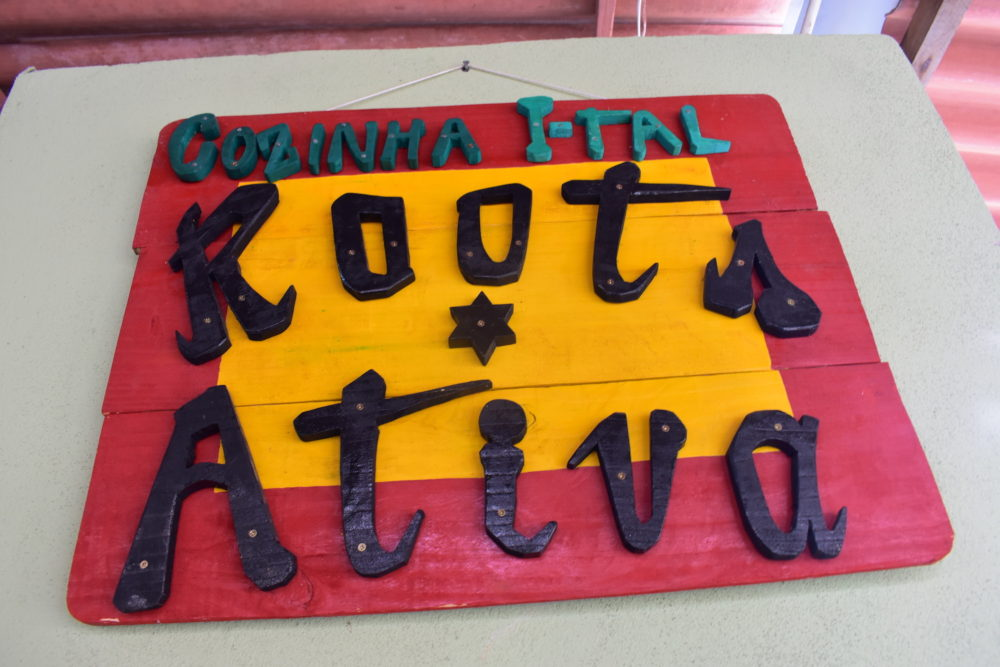 Roots Ativa's Ital Kitchen at the weekly Vegan Fair in Santa Tereza
