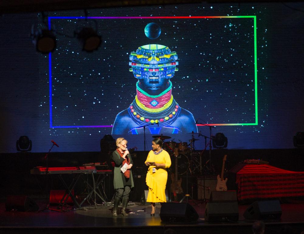Presenters Gaby Sappington (WMI) and Jamilla Deria (Apollo)