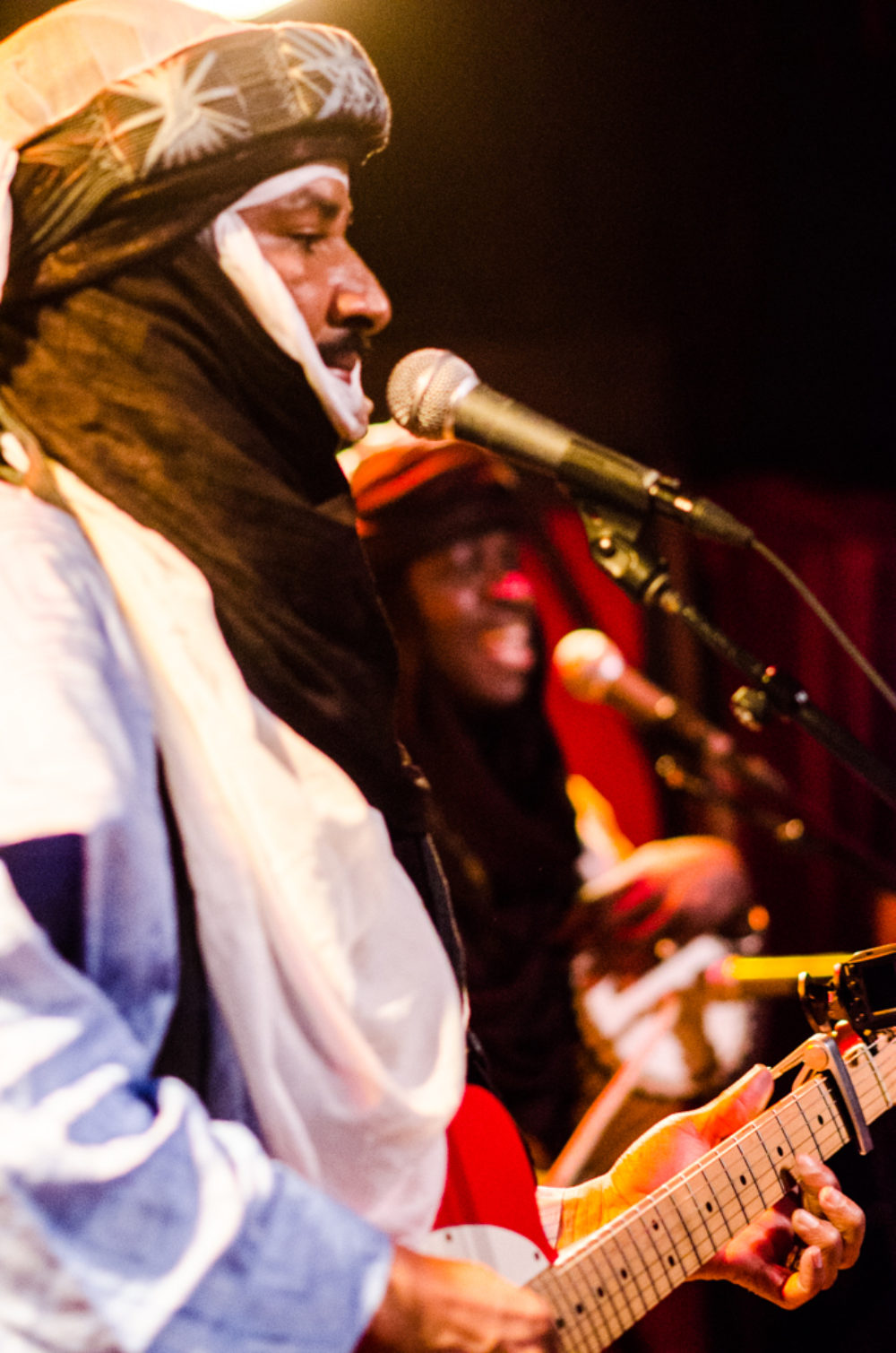 Alhousseini Anivolla and Segbegnon Gnonlonfoun at Rockwood Music Hall. All Photos by Banning Eyre, 2017