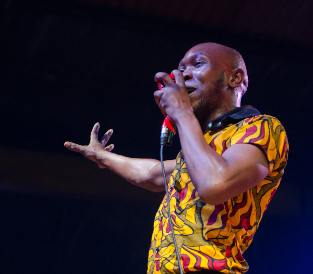 Seun Kuti performing at The Afrika Shrine in Lagos (Eyre 2017)