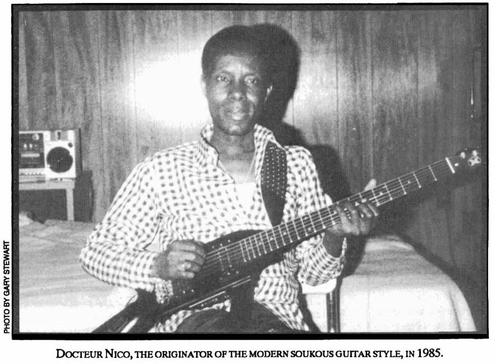 """Docteur Nico"" Kassanda: Iconic guitarist with Kabasele's African Jazz and Tabu Ley Rochereau's African Fiesta."