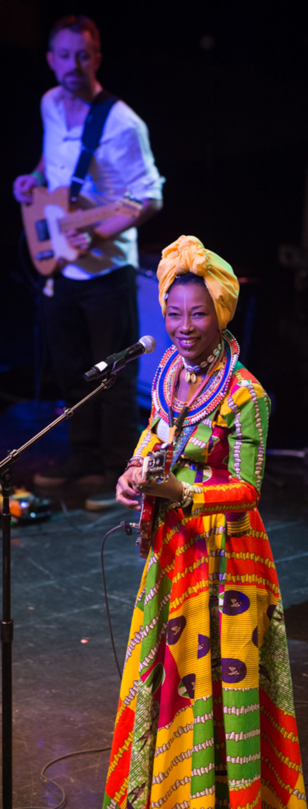 Fatou and Sam Dickey, guitarist and director of Fatou's American band