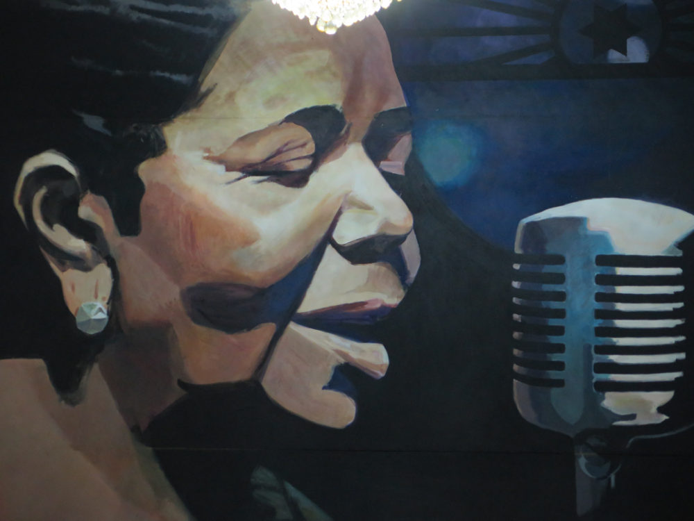 Yes, Cesaria, whose image is EVERYWHERE in Cape Verde. (BE)