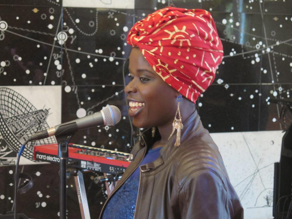 Fatou Diakite at soundcheck (BE)