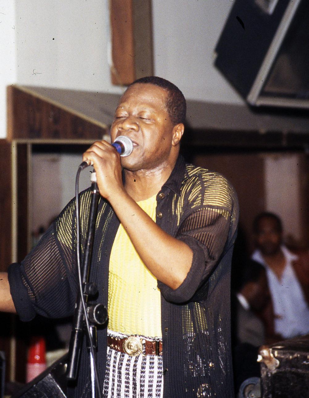 Papa Wemba at Zaiko Langa Langa's 17th anniversary concert, Kinshasa, 1987