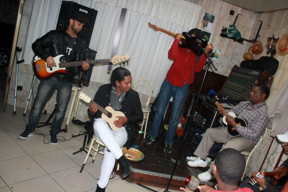 Musicians perform Cape Verdean music every weekend at restaurants throughout Kova.