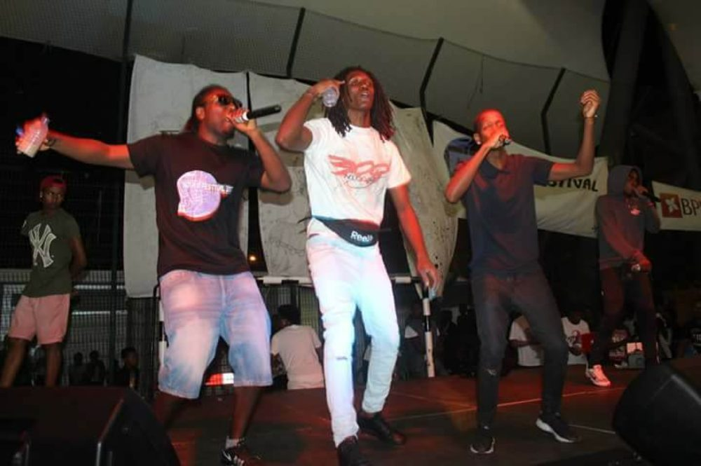 Rappers onstage at the Kova M Festival
