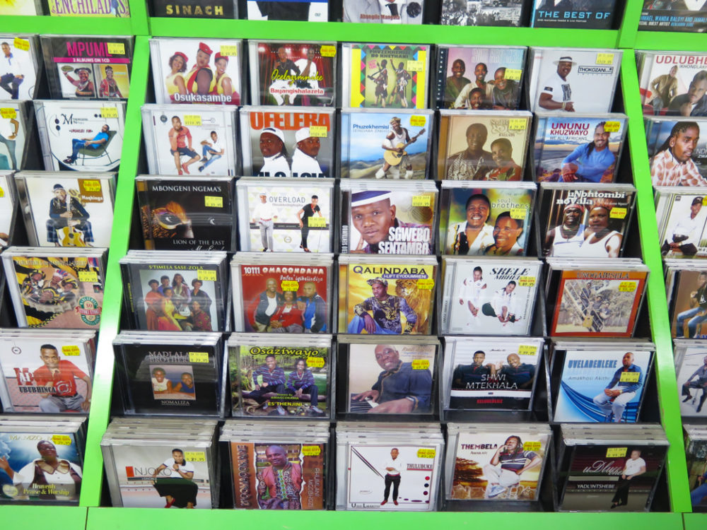 Maskanda CD selection at Disc City in Durban (Eyre 2019)