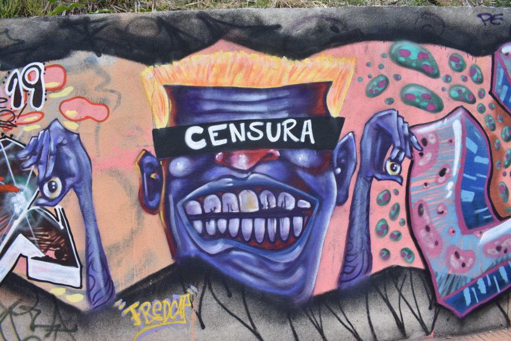 Street art near the Guignard arts school in Mangabeiras