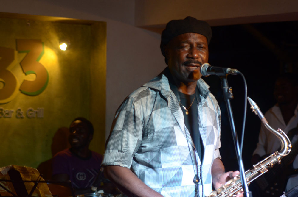 Ambolley at the 223 Jazz Club in Accra (Eyre, 2013)