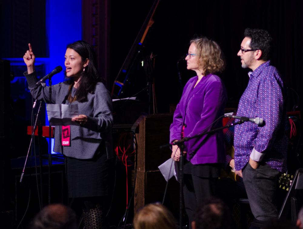 Shanta Thake, Isabel Sofer, Bill Bragin, maestros of globalFEST!