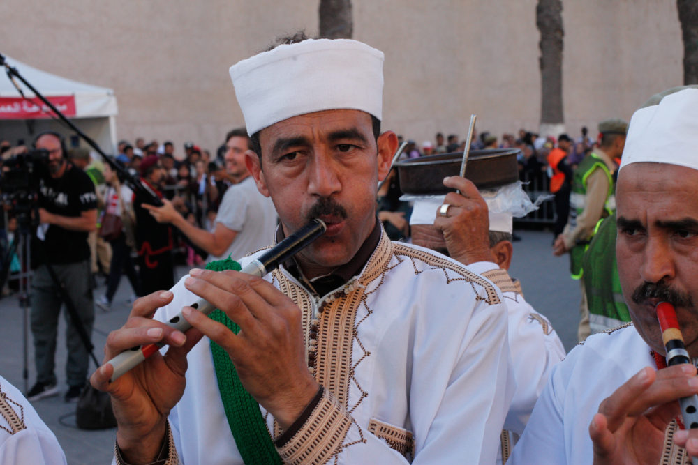 Ahwach flute player