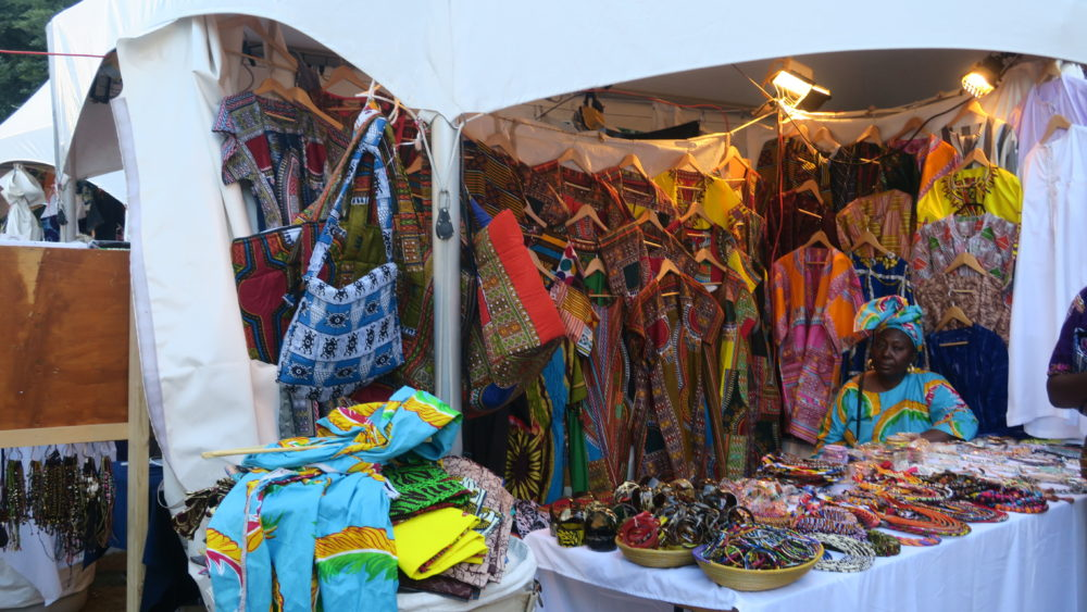 A vendor selling her goods at the festival. All photos by Akornefa Akyea.