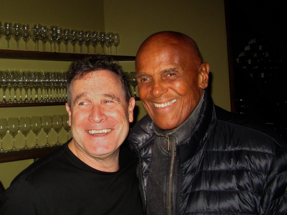 Johnny with Harry Belafonte at City Winery (Eyre)