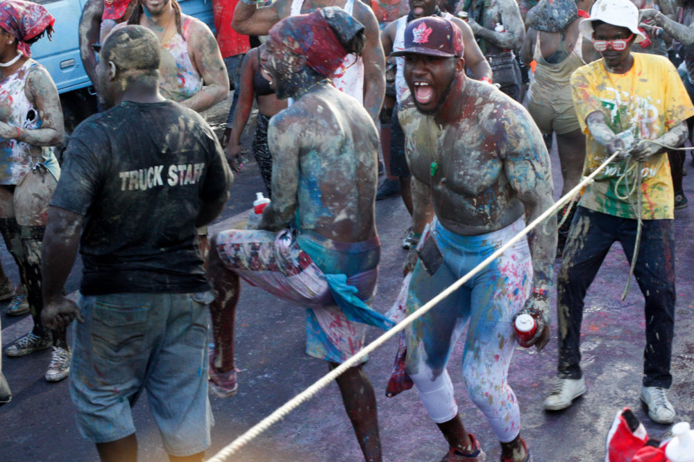 Getting into the J'Ouvert spirit