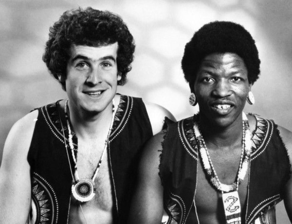 Johnny Clegg and Sipho Mchunu, promo shot from late 1970s