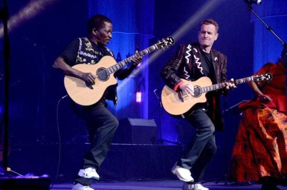 Johnny and Sipho together at one of Johnny's last South African concerts