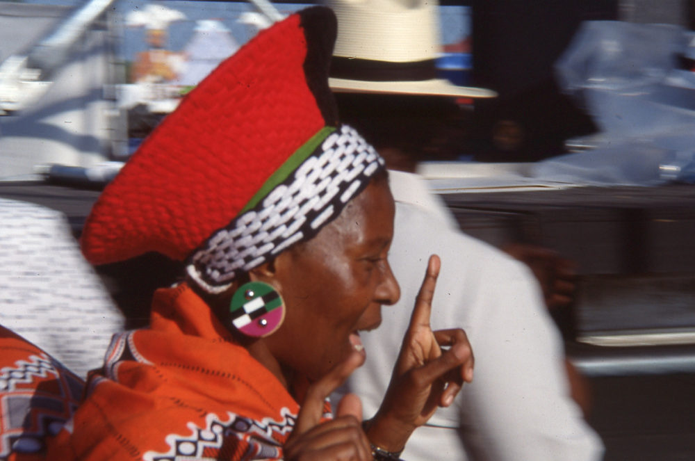 Hilda Tloubatla of the Mahotella Queens (Eyre, 1991)