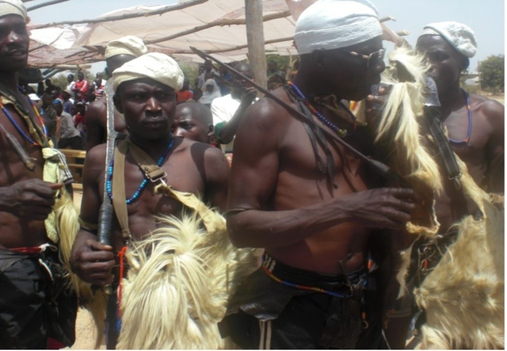 Traditional dress on display in Maroua. Photo by: Georges Collinet