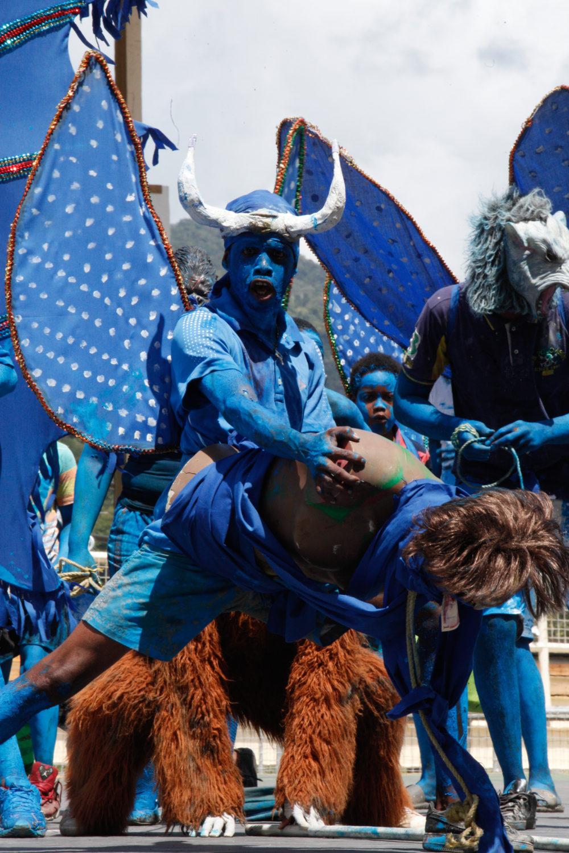 A blue devil