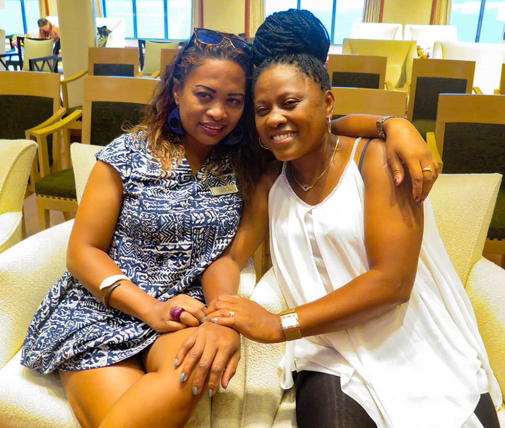 Claudine (Jaojoby's wife) and Clara at Nosy Be