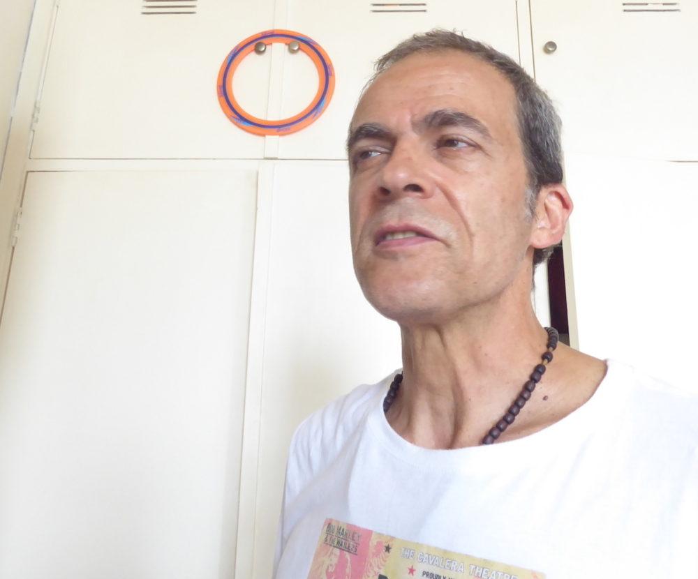 Journalist Otavio Rodrigues at home