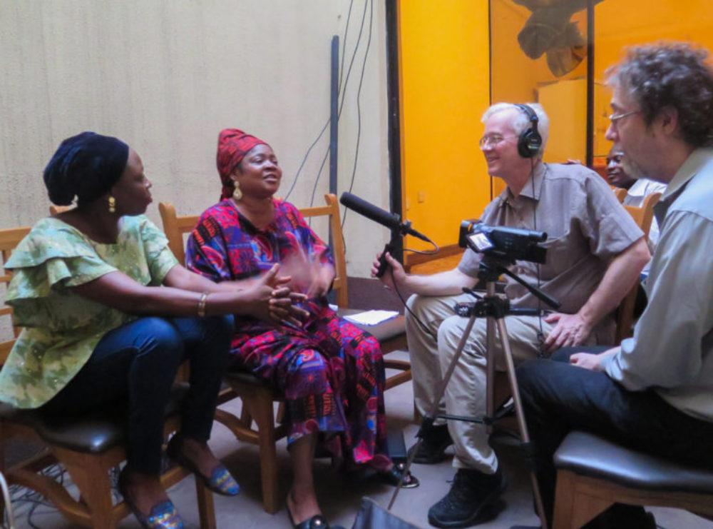 Interviewing Salawa Abeni