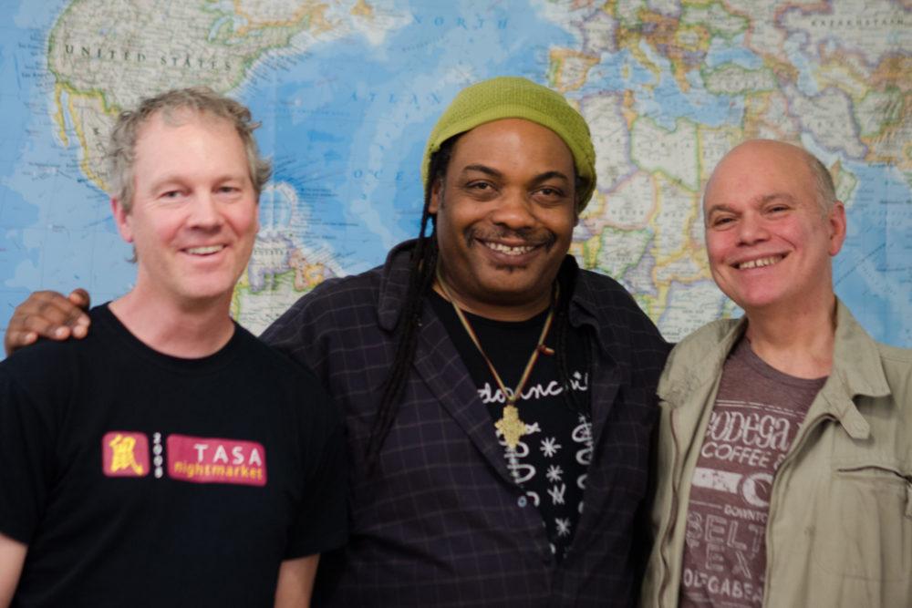 David Raymond, Daniel Laurent, Ralph Gasparello of Tjovi Ginen
