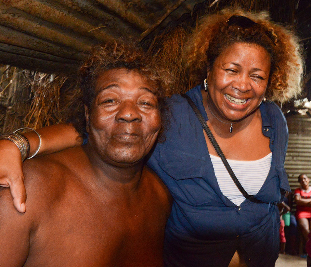 The great Antandroy traditional musician Remanindry and his star student Monika Njava of Toko Telo. At Remanindry's home in Tulear.