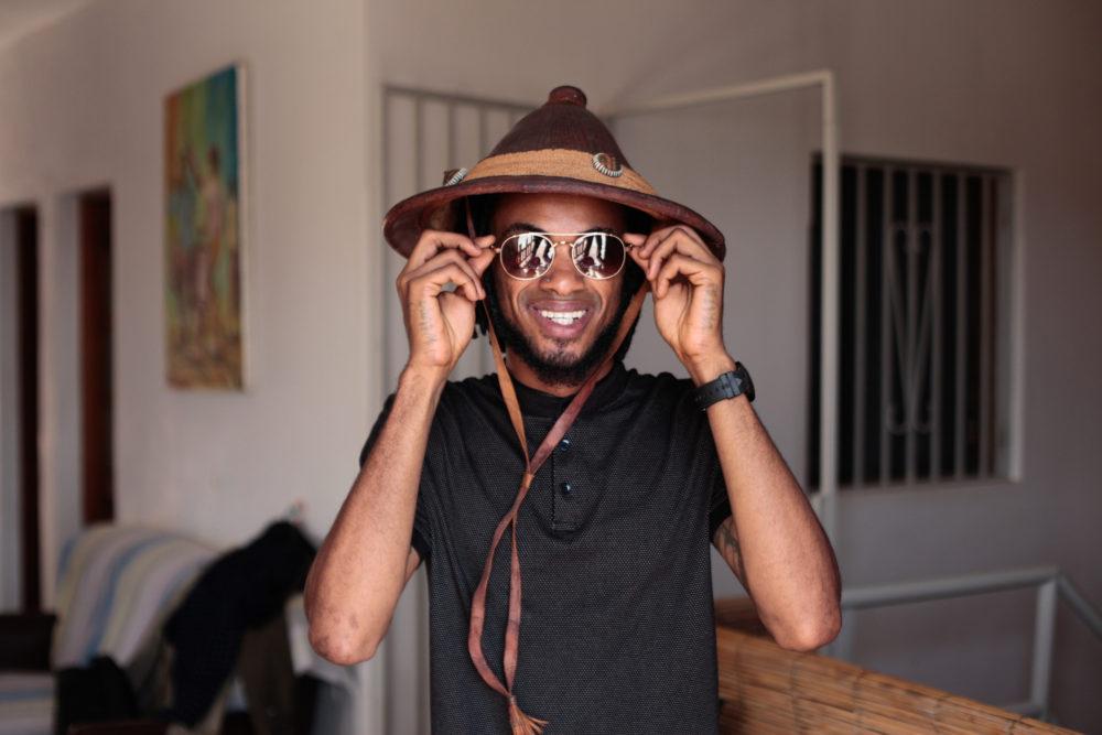 Producer and bassist Wilson Silva in Cidade Velha, Cape Verde (SB)