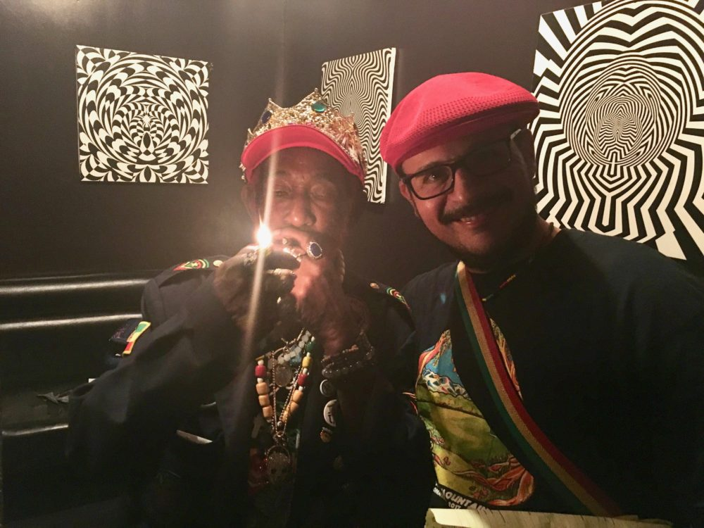"""Lee """"Scratch""""Perryand writer Stephen Cooper at the Dub Club in Los Angeles   Courtesy of Stephen A. Cooper"""