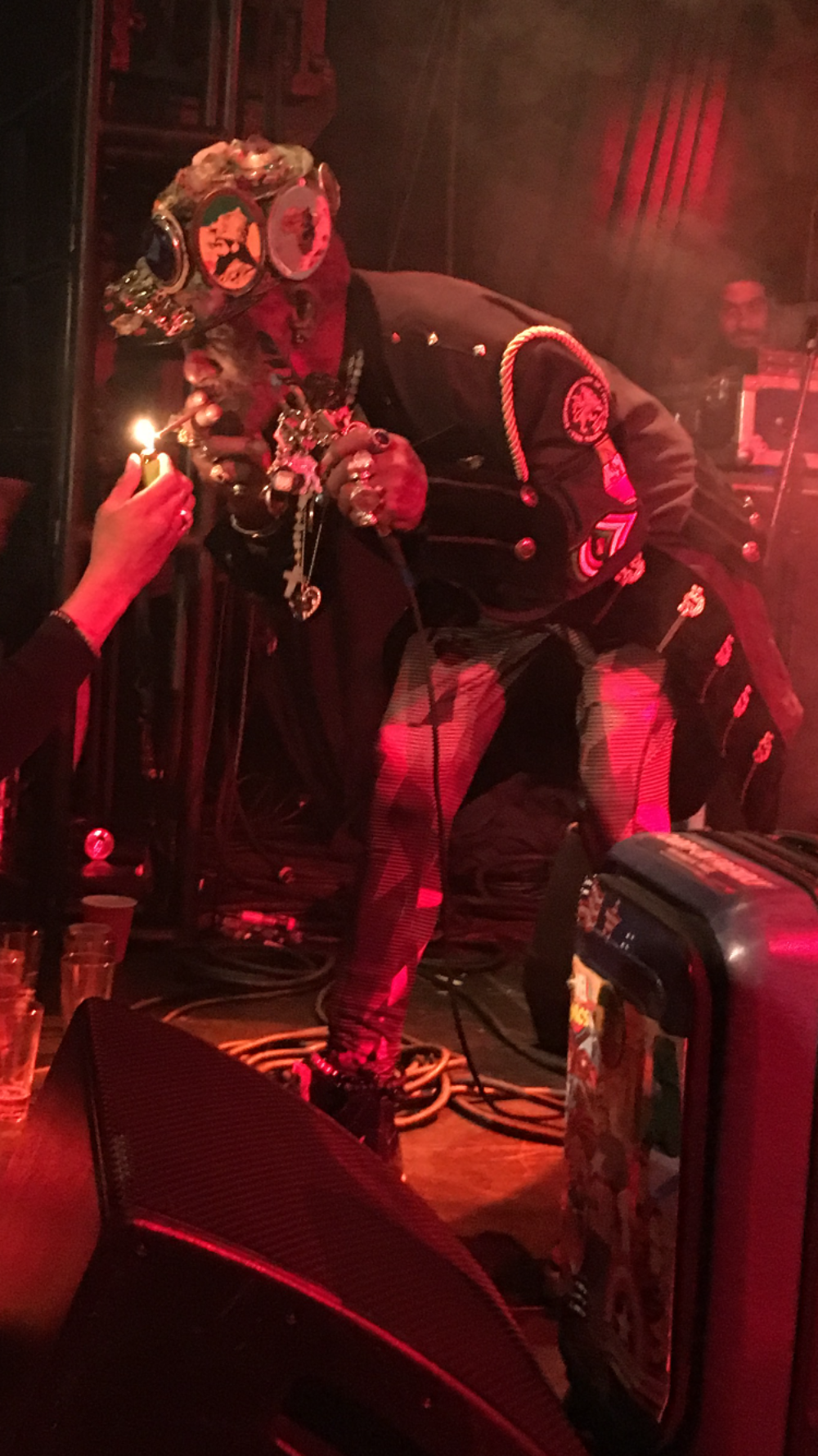"""Lee """"Scratch""""Perryperforming at the Dub Club in Los Angeles   Courtesy of Stephen A. Cooper"""