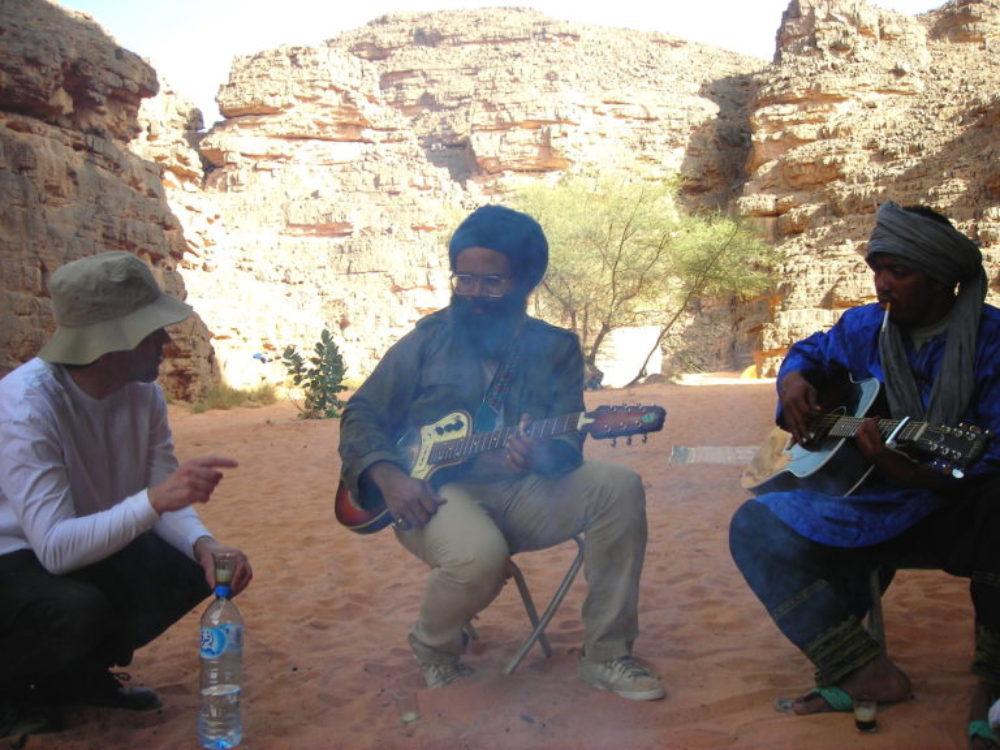 Brennan with Tinariwen in Algeria.