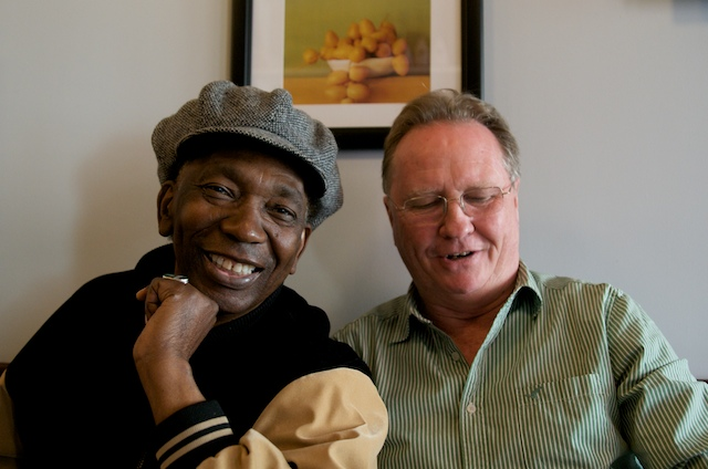 "Simon Bright and Thomas Mapfumo in NYC for Debut of Bright's film ""Robert Mugabe... What Happened?"""
