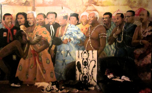 Artwork in Panji Anoff's house (Eyre 2013)