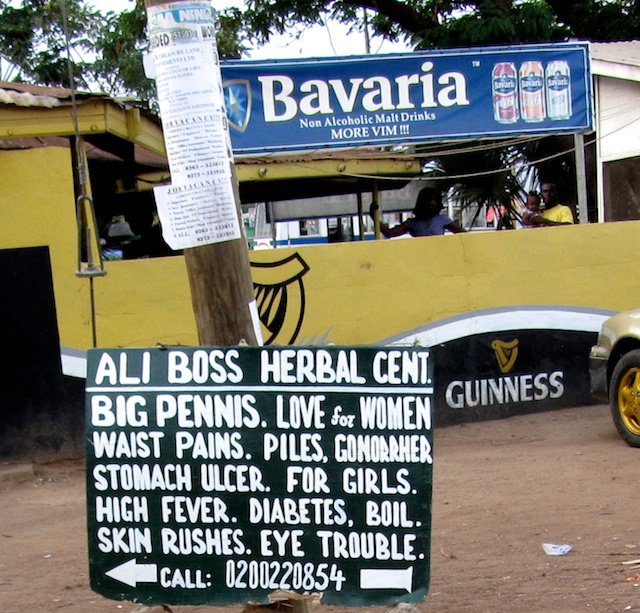Signs in Holy Garden, Accra (Eyre 2013)