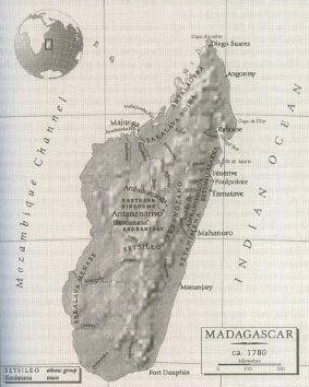Madagascar, ca. 1780 (Source: Pier M. Larson, History and Memory in the Age of Enslavement)