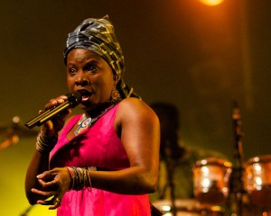 Angelique Kidjo at Nuits d'Afrique in Montreal (Eyre 2013)