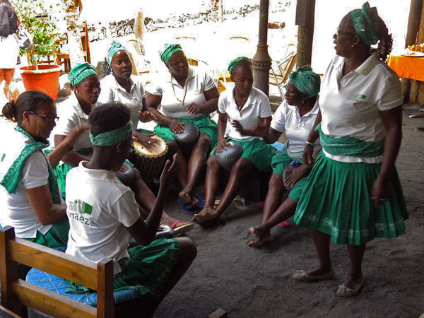 Batuque, roots African music for women on the island of Praia.