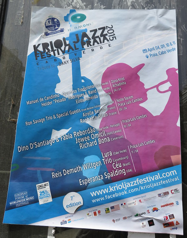 Festival poster. You can't believe how much live music goes on in Cabo Verde.