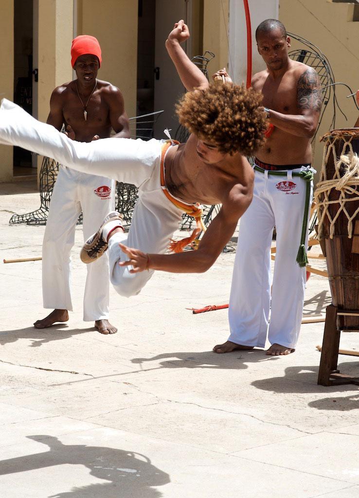 Capoeira, by way of Brazil, in Mindelo.