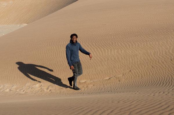 Elemotho on the dunes...