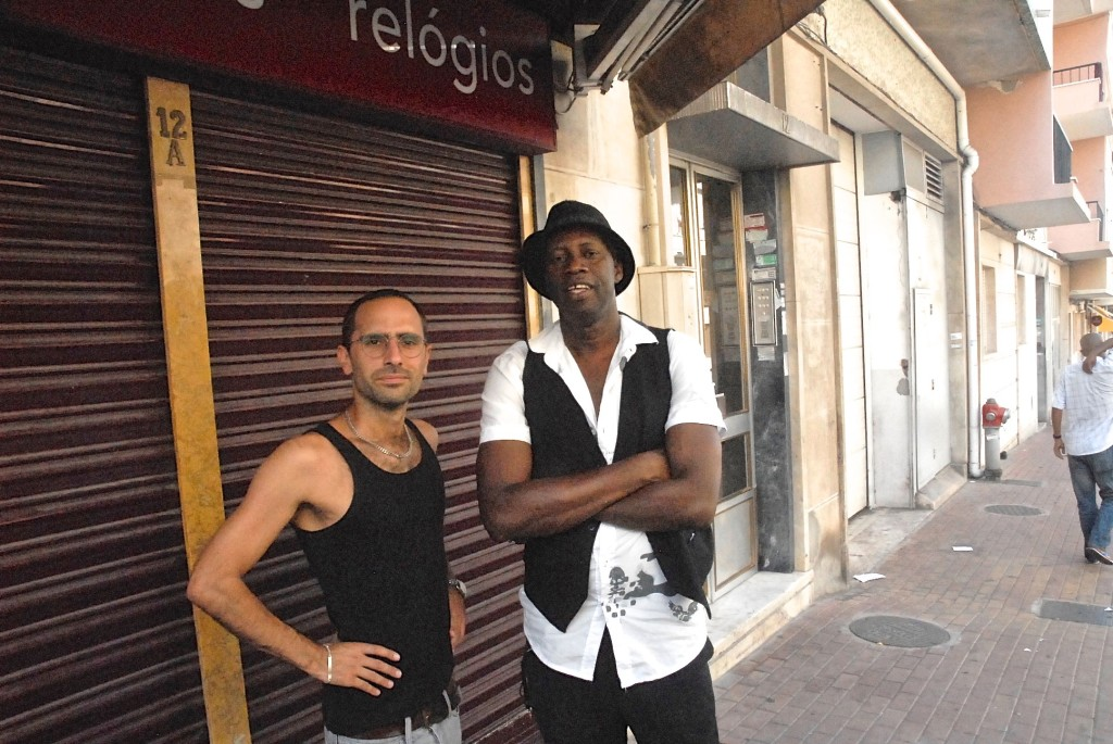 Francisco Sousa and Maio Coope, a musician from Guinea Bissau.