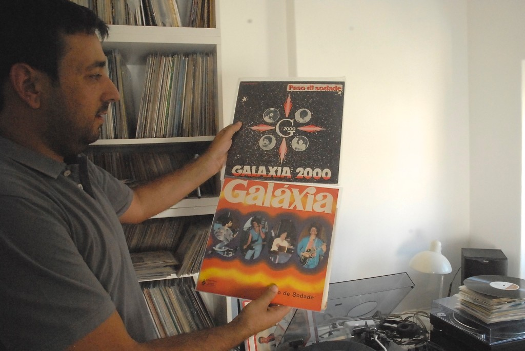 Miguel Isodoro, one of the cities most avid record collectors, shows off some choice cuts.